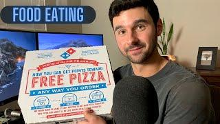 [ASMR] EATING A LARGE DOMINOS PIZZA - Close Up Food Eating Sounds