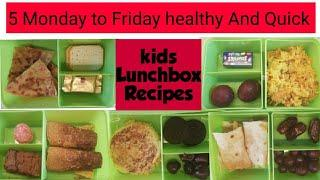 Monday to Friday kids Tiffin box Recipes/ 5 Tiffin Recipes/ Easy and Quick Tiffin idea's for Kids