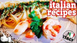 Yummy dinner for lazy | spaghetti with cream & shrimps | italian recipes 100%