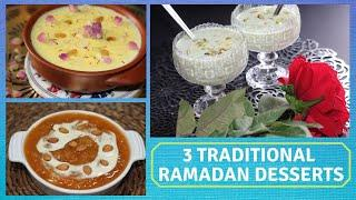 3 TRADITIONAL DESSERTS FOR RAMADAN | IFTAR DESSERTS | EASY TRADITIONAL INDIAN DESSERTS | DESSERTS