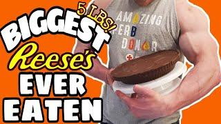 BIGGEST REESE'S EVER EATEN | 12000 CALORIES | GIANT PEANUT BUTTER CUP | EPIC CHEAT MEAL HOW TO DIY