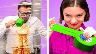 STUDENTS VS TEACHER || 12 DIY Funny School Pranks and Funny Situations By Crafty Panda