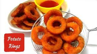 Crispy potato rings|Easy Snack Recipe|Potato Snack|English Subtitles|Simple and Tasty with Neetha