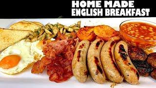 MASSIVE ENGLISH BREAKFAST FEAST HOME MADE-MUKBANG