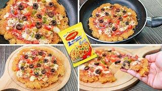 Maggi Pizza Recipe | Noodles Pizza Without Oven | Easy Snacks Recipe| Toasted