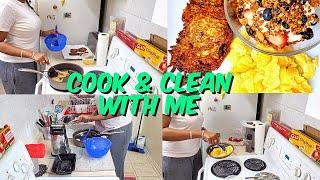 Cook and Clean With Me | Breakfast Edition & Washing Dishes