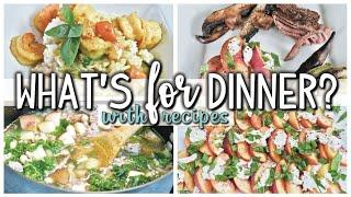 WHAT'S FOR DINNER | EASY DINNERS | COOK WITH ME  | AUGUST 22-28