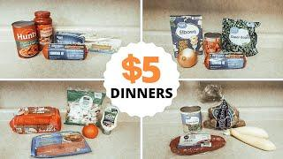 $5 DINNERS: QUICK AND AFFORDABLE MEALS: BUDGET FRIENDLY: 5 INGREDIENTS OR LESS