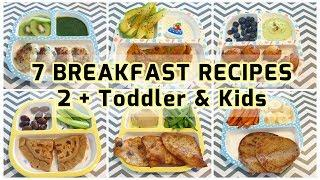 7 Breakfast Recipes (2+ Toddler & Kids) | Easy and Healthy Breakfast Ideas | Indian Vegetarian Meals