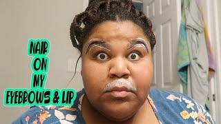 HOW TO GROOM YOUR EYEBROWS WITH NAIR| quarantine| grwm| prissy p