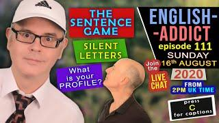 SILENT LETTERS in ENGLISH WORDS / The Sentence Game / Improve your listening LIVE with Mr Duncan