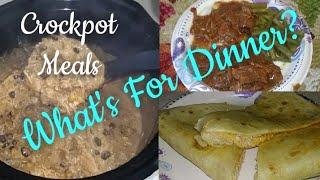 What's For Dinner? | EASY AND AFFORDABLE MEALS | Crockpot meals