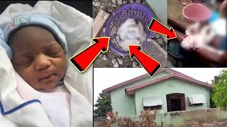 SAD..Lady found baby in public to!let bin & Explain how the baby's mouth was packed with used T-ROLL