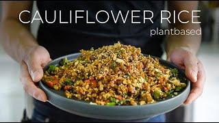 QUICK DINNER IDEA BUT YOU MAY NEED A BIB TO WATCH THIS CAULIFLOWER FRIED RICE RECIPE!