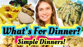 Whats For Dinner Tonight? | *6* EASY REAL LIFE MEALS | Budget Friendly | JULIA PACHECO