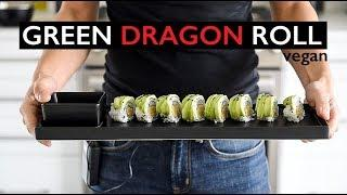 EASY VEGAN SUSHI RECIPE | HOW TO MAKE GREEN DRAGON ROLL