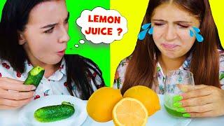 REAL FOOD VS JUICE | EATING SOUNDS FOOD CHALLENGE LILIBU