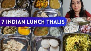 7 Indian Lunch recipes (homemade thali) | Indian Food Ideas