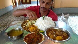 I Enjoyed my Lunch Today | Rice with Lata Fish Gravy & Chicken Curry
