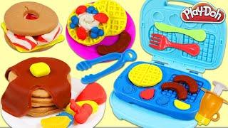 PLAY DOH making breakfast plate Making Play Doh Breakfast, & Chef Playset with 40+ Pieces!