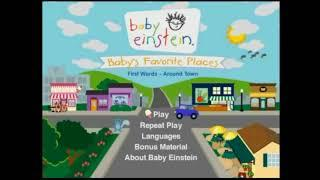 Baby Einstein Baby's Favorite Places DVD Menu Walkthrough