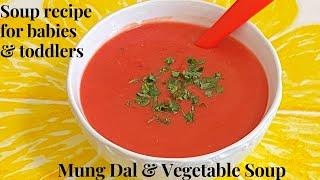 Healthy Soup Recipe for 8 months+ babies and Toddlers| Vegetables & Lentils Soup| Kids Healthy Soup