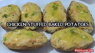 CHICKEN STUFFED BAKED POTATO Recipe | Baked Foods | Dinner Idea | Home cooking