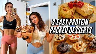 2 Easy High Protein Desserts! tasty & low cal