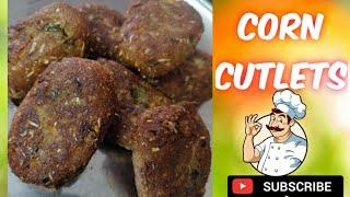 corn cutlets recipe/appetizer/starter recipe/breakfast/tea time snacks recipe