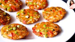 Instant Breakfast recipe,Easy & Quick Snacks, Tasty Snacks recipe, Nhasta recipe, Crispy bread tikki