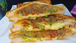 Cheese Omelette Sandwich-Quick and Easy Breakfast Recipe with Egg-Bread Breakfast recipe #breakfast
