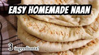 EASY VEGAN NAAN  with just 3 ingredients! | Mary's Test Kitchen