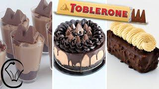 3 EASY Toblerone Desserts COMPILATION Satisfying! Make ahead Simple Ingredients  Mini Cheesecakes