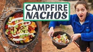 How to Make NACHOS WHEN CAMPING: Easy Dutch Oven Nachos Over the Campfire!