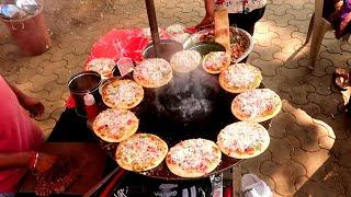 Rs20 Famous Road Side Pizza at Fashion Street, Mumbai | Mumbai Street Food 2020 | Street Food Zone