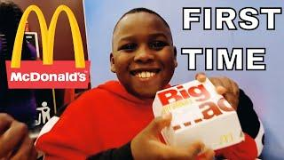 Jfunk & Miracle baby Josiah Order MCDONALD'S On ELECTRONIC MENU For the FIRST TIME in London!