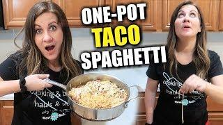 EASY TO MAKE ONE-POT TACO SPAGHETTI | Testing out One Pot Taco Spaghetti Noodle on the Ceiling