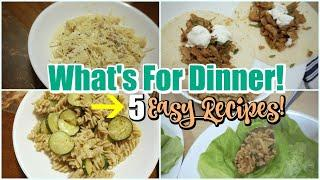 WHAT'S FOR DINNER? || EASY AND BUDGET FRIENDLY MEAL IDEAS || COOK WITH ME