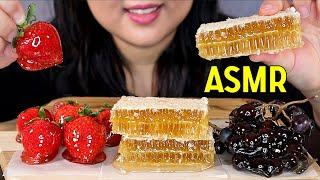 MOST POPULAR FOOD FOR ASMR: TANGHULU (CANDIED FRUIT) HONEYCOMB EATING SOUNDS 벌꿀 탕후루 리얼사운드