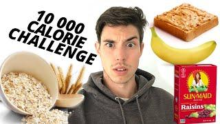 10,000 Calorie Challenge BUT HEALTHY FOOD ONLY - Epic Cheat Day - Man Vs Food Challenge