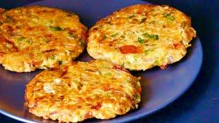 Instant breakfast recipe, cutlet recipe, Tikki recipe, Snack, Indian style Spicy Mixed veg Pancakes