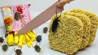 Stop Motion Cooking Making Instant Noodles From Lego IRL & Bugs ASMR Unusual Cooking #14