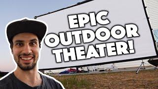 MAKING AN OUTDOOR MOVIE THEATER FOR OUR KIDS!