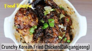 Crunchy Korean Fried Chicken  Spicy Version (KFC) | Dakgangjeong in 1 min video Food Recipe Record
