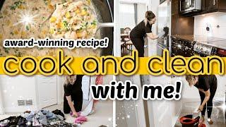 ALL DAY COOK AND CLEAN WITH ME 2020! Award-Winning White Chicken Chili Recipe