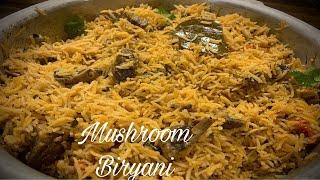 Mushroom Biryani Recipe | How To Make Mushroom Biryani in pressure cooker