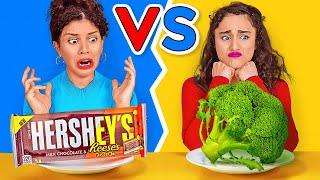 EATING ONLY JUNK VS HEALTHY FOOD FOR 24 HOURS || Don't Choose The Wrong Food by 123 GO! CHALLENGE