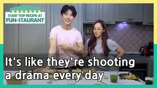 It's like they're shooting a drama every day (Stars' Top Recipe at Fun-Staurant)|KBS WORLD TV 210601