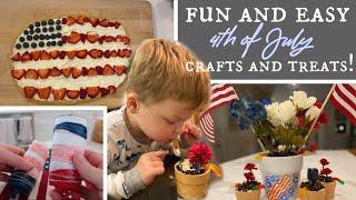 *NEW* QUICK & EASY 4th Of July Crafts and Desserts! Patriotic DELICIOUS Treats!  | Rachel Engelbarts
