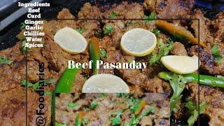 Beef Pasanday Recipe in English | Beef Recipe | Eid Special Beef Recipe | Food Diaries